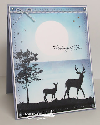 North Coast Creations Stamp sets: Deer Silhouette Greetings