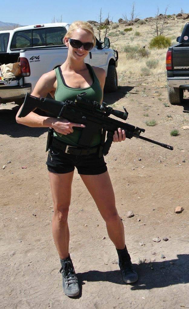 Gun Girl Out Shooting Guns Girls