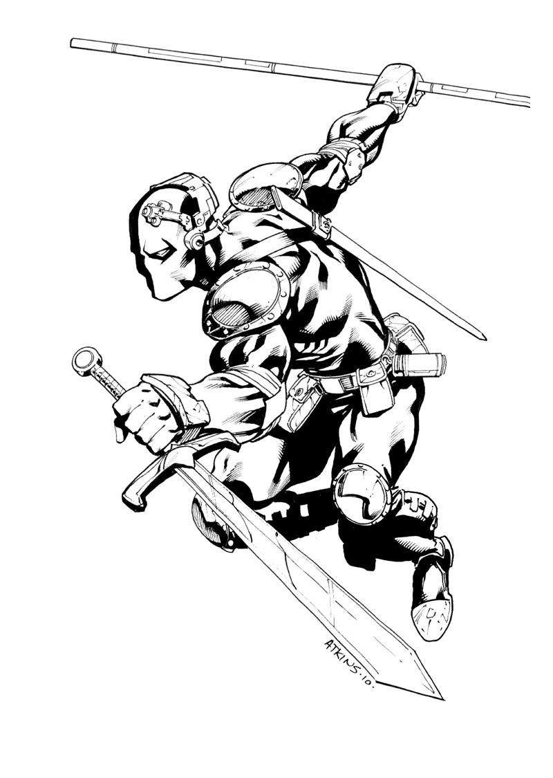 coloring pages of deathstroke costume - photo#19