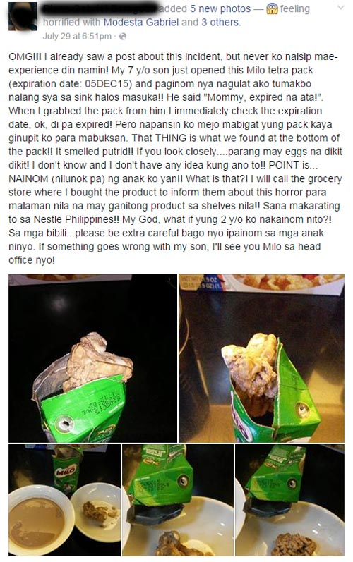 Nestlé Philippines Milo tetra pack scandal photos