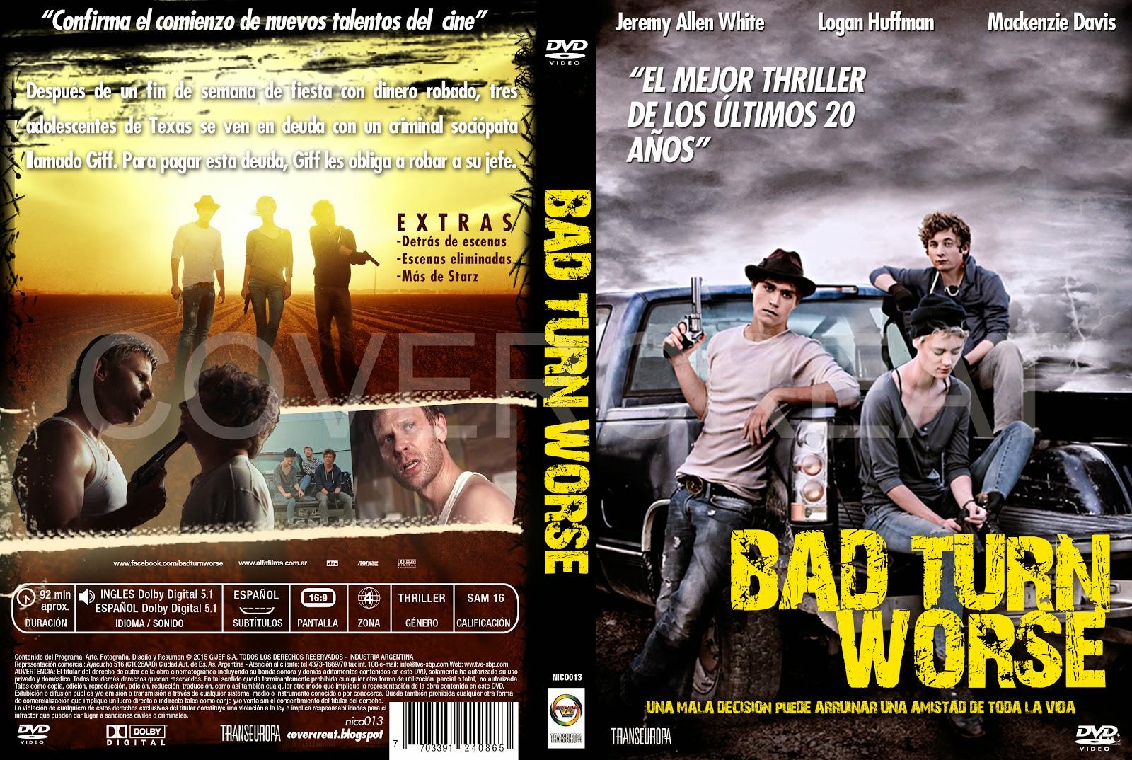 covercaratulas de dvd cd covercreators bad turn worse dvd cover cd 2014. Black Bedroom Furniture Sets. Home Design Ideas