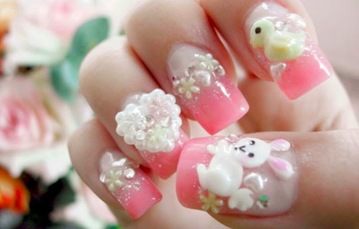 Nail salon designs designs salon 3d nail art using fake nails you can just directly prinsesfo Images