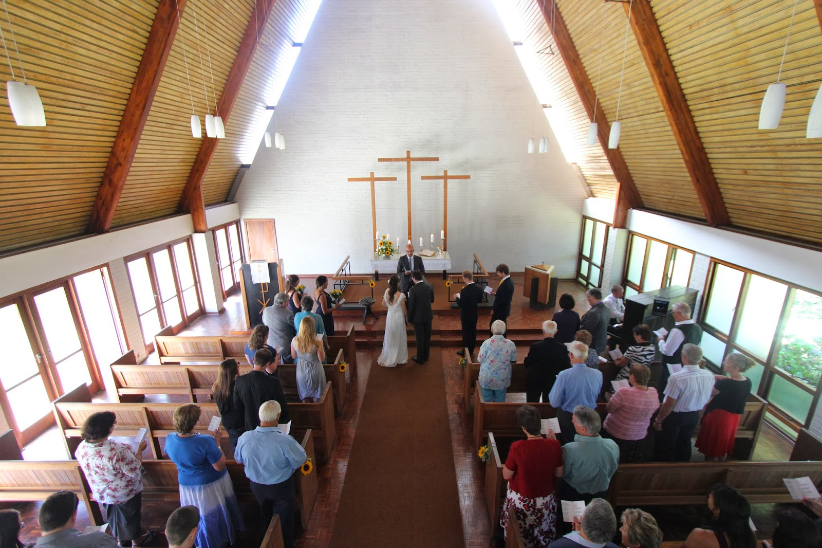 wedding ceremony ariel view