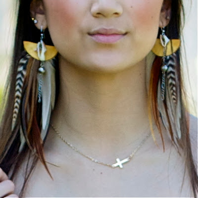 Wicked Peacock Feather Earrings