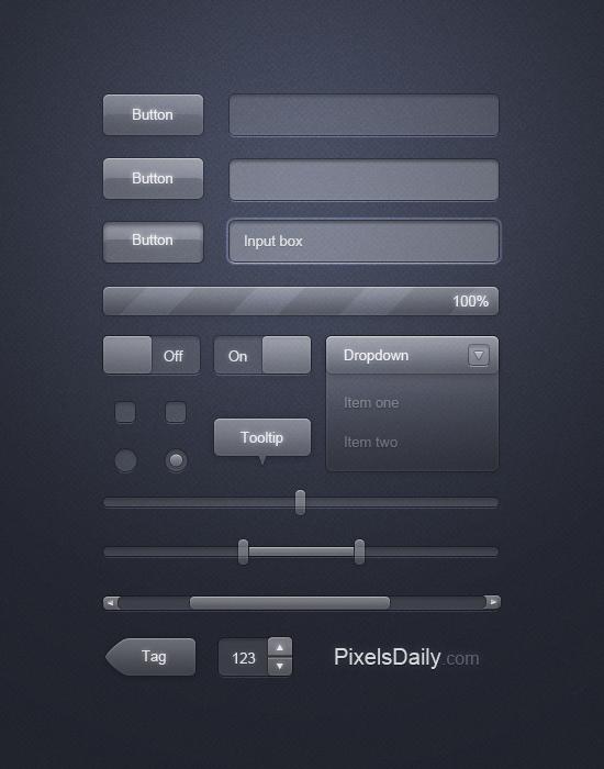 Transparent Glass UI - User interface Design