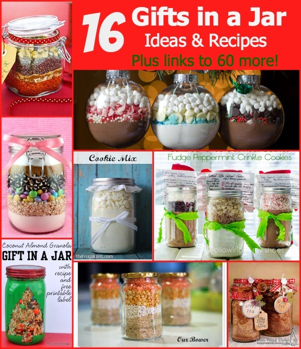 http://www.dailyholidayblog.com/2013/12/make-a-gift-day-16-gifts-in-a-jar-ideas-and-recipes/