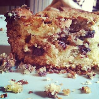 Grandma Sour Cream Coffee Cake Recipe With Chocolate Chips
