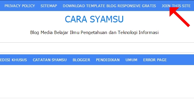 Cara Memasang Link Join This Site Loading Blog Tetap Ringan