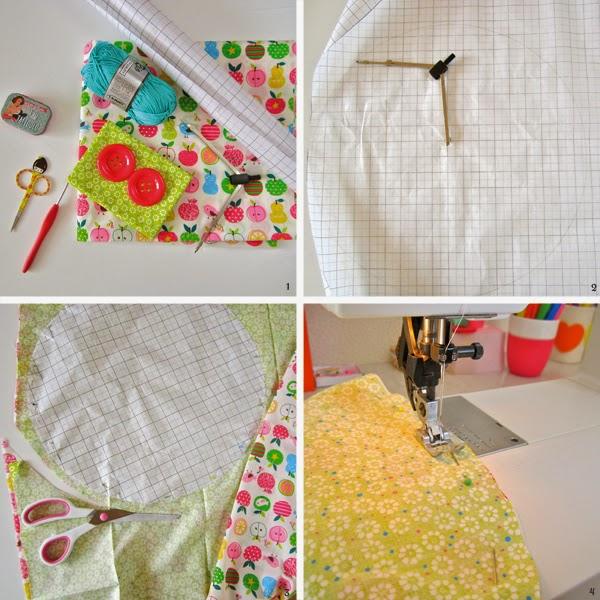 how to cut crochet fabric