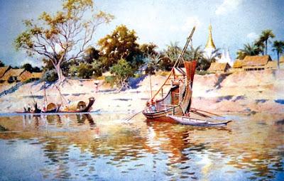 Old Bagan and Irrawaddy