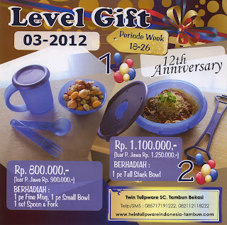 Level Gift Tulipware | Mei - Juni 2012