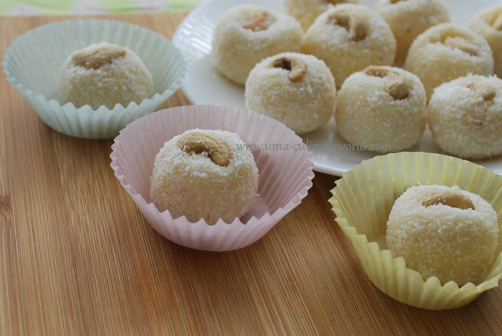 Microwave Coconut Ladoo