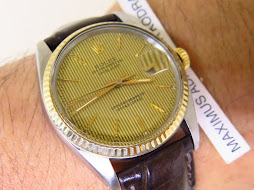 ROLEX OYSTER PERPETUAL DATE JUST GOLD LINE DIAL - ROLEX 16013