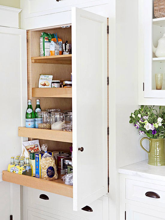 Put A Pantry At Eye Level With Pullout Drawers To Make Mealtime Easy