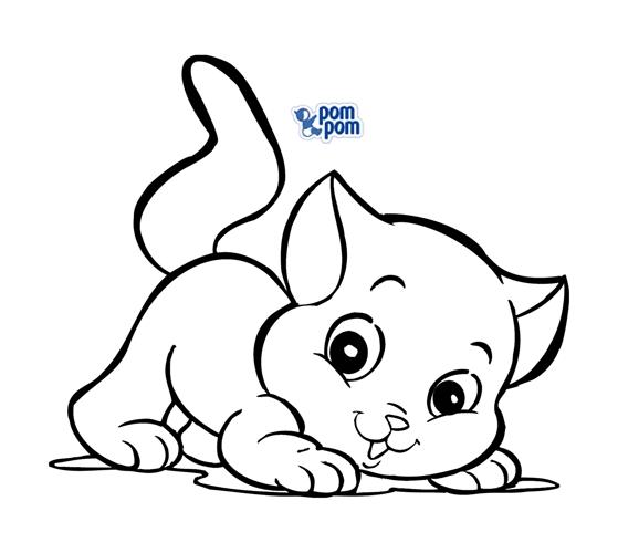 Desenhos para colorir gatinhos para colorir for Figuras para calcar