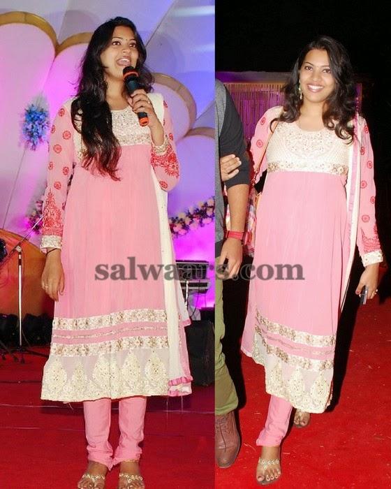 Geeta Madhuri Light Pink Salwar
