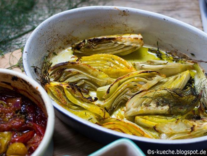 Veganer Braten mit Safran-Fenchel