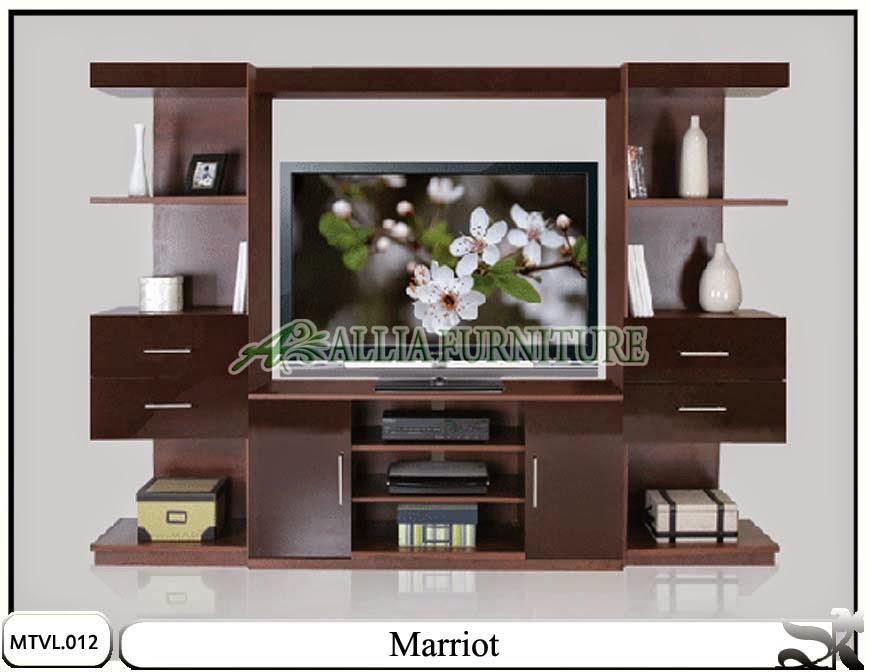 Lemari tv lcd model minimalis Marriot