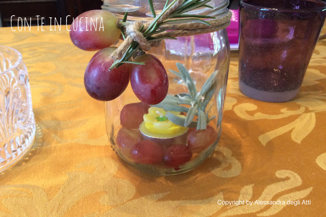 decorare tavola tema autunno