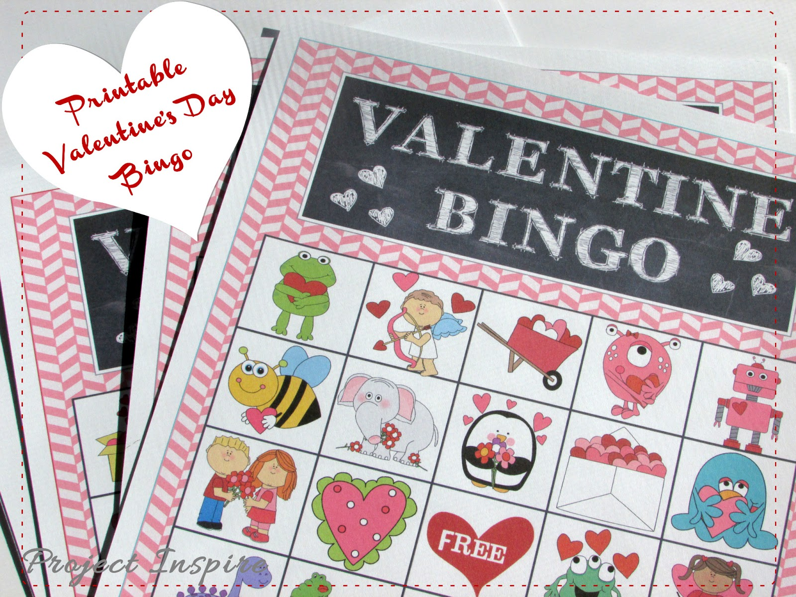 Free Valentines Day BINGO and Treat Toppers – Valentines Day Bingo Cards