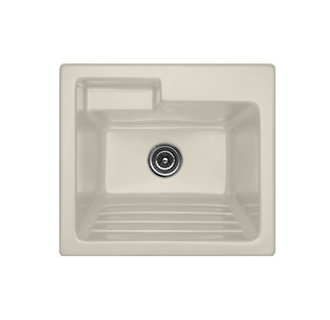Bon CorStone White Self Rimming Acrylic Laundry Sink
