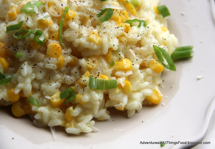 Sweet Corn Risotto Recipe with The Secret Recipe Club on Adventures in ...