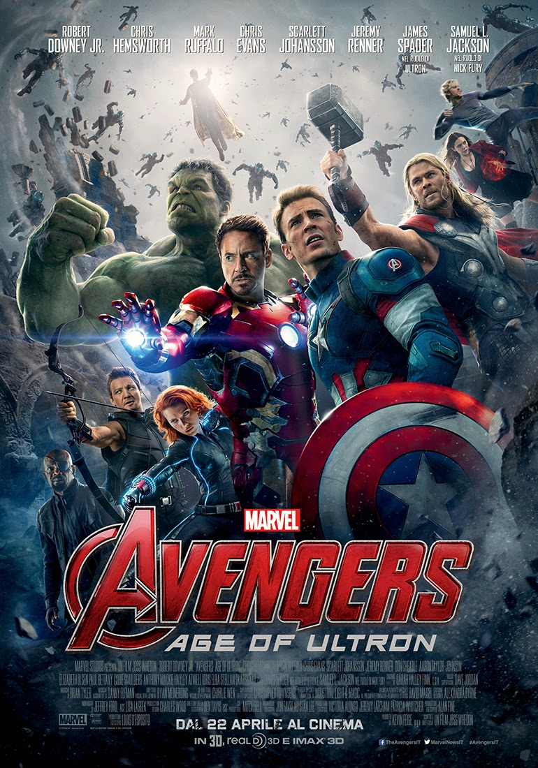Avengers Age of Ultron recensione poster