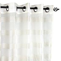 cortina visillo blanca