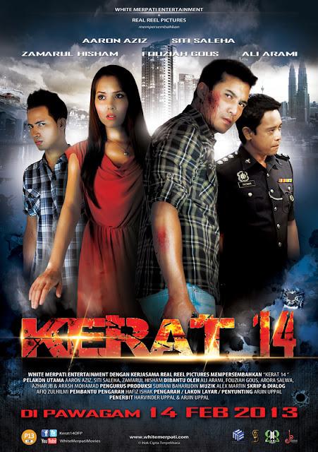santai, Santai iskandarX, Filem Review, Kerat 14, Aaron Aziz, Siti Saleha, Zamarul Hisham, Ali Arami, Fouziah Gous, Arash Mohamad