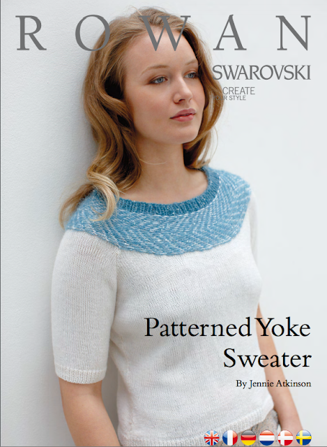The Vintage Pattern Files Free 1950's Knitting Pattern 1950's Style Patterned Yoke Sweater
