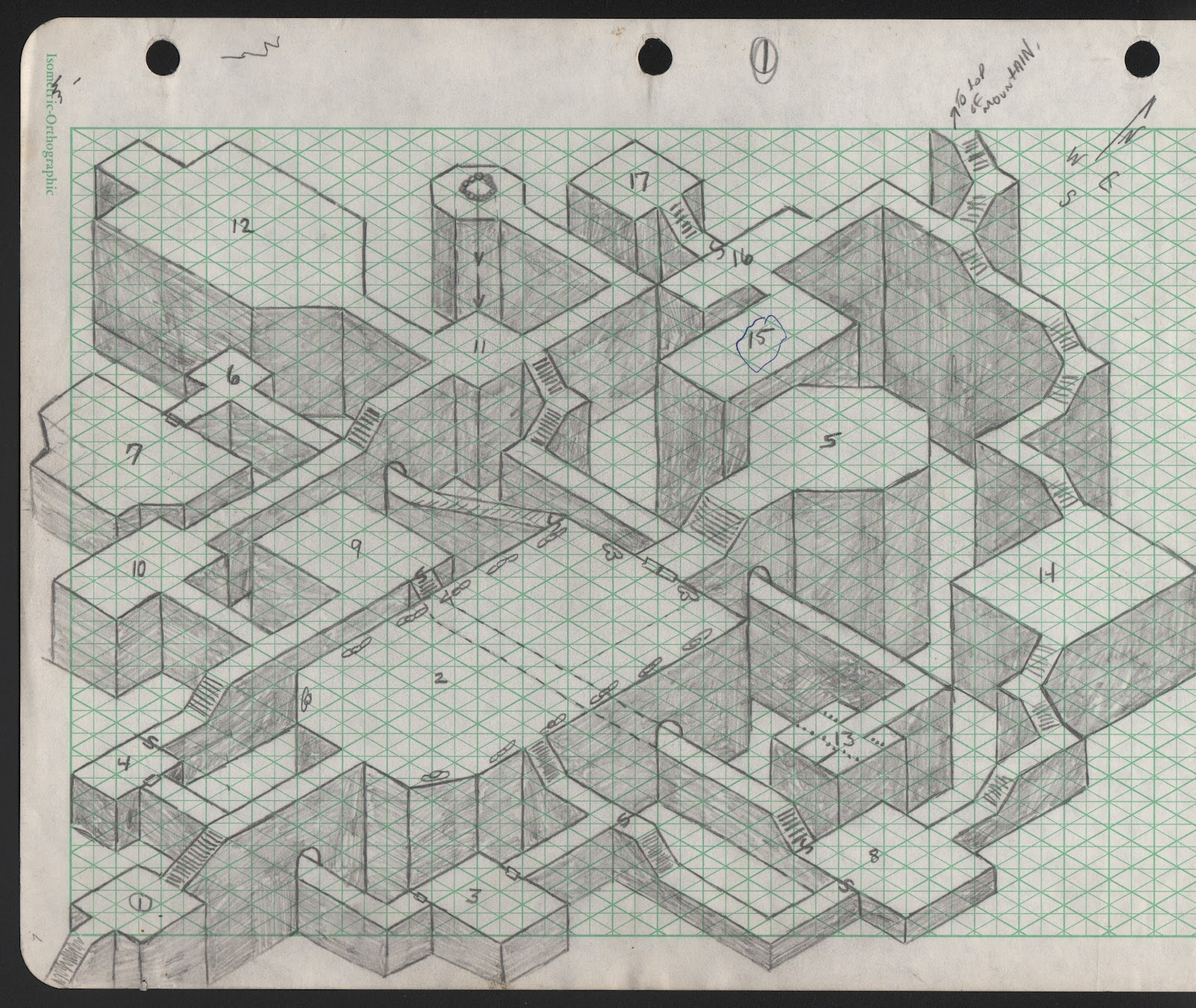 Isometrical dungeon map