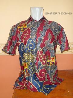 Gambar Baju Batik Bola Barcelona FC