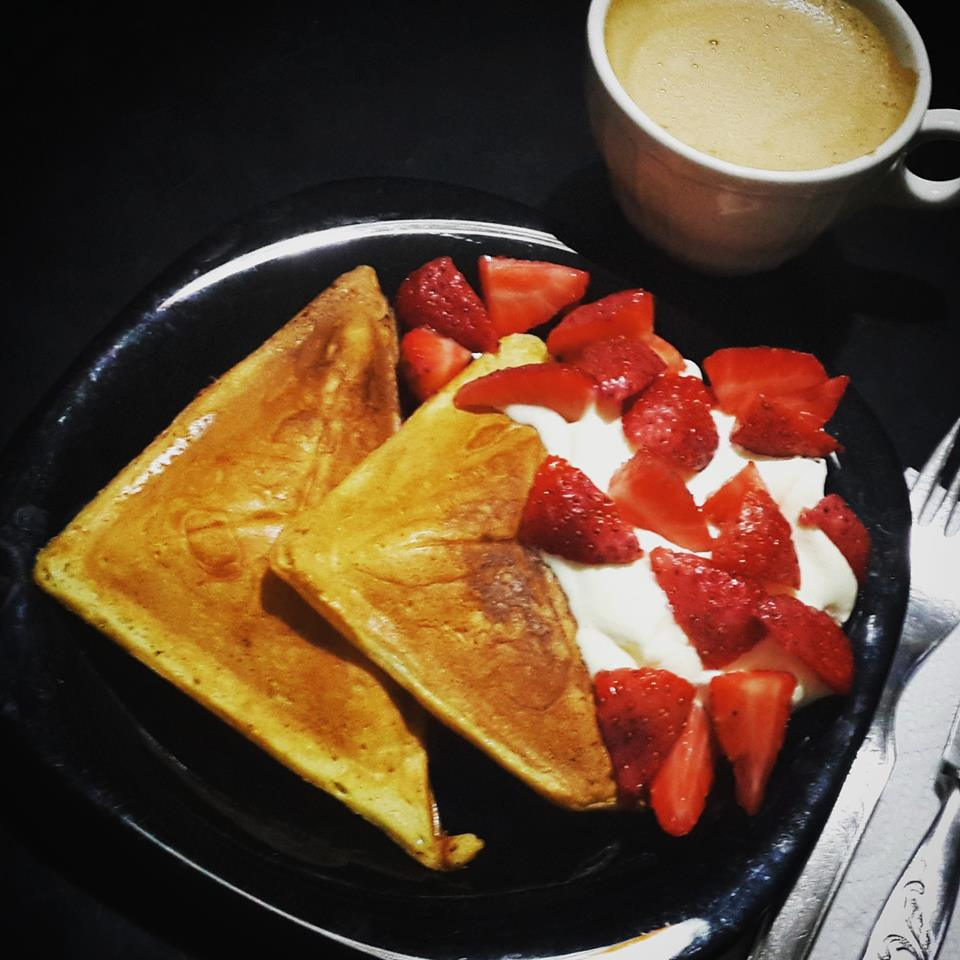 Waffles receta sin wafflera
