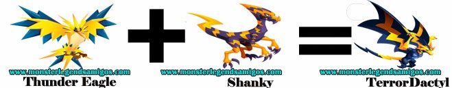 como sacar a terrordactyl en monster legends formula 3