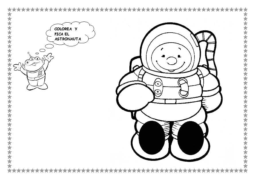 Contemporáneo Astronauta Hoja Para Colorear Imagen - Ideas Para ...