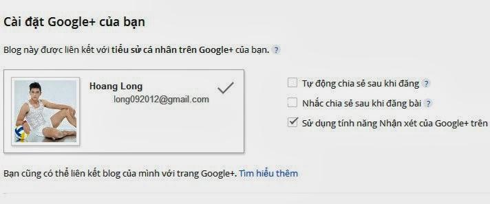 Tạo comments của Google+ plus cho Blogger templates