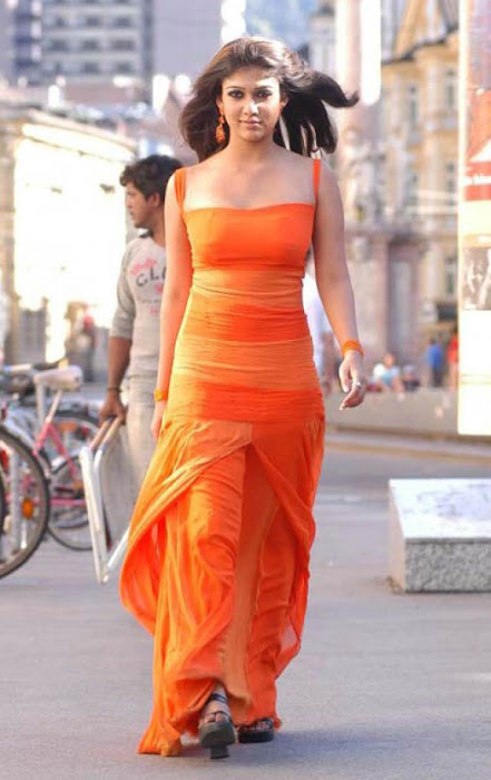nayanthara in orange dress unseen pics