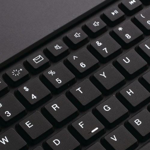 Wireless Bluetooth Keyboard Leather Case for Samsung Galaxy Tab 7.0 Plus P6200 P6210 P3100 P3110 - Black