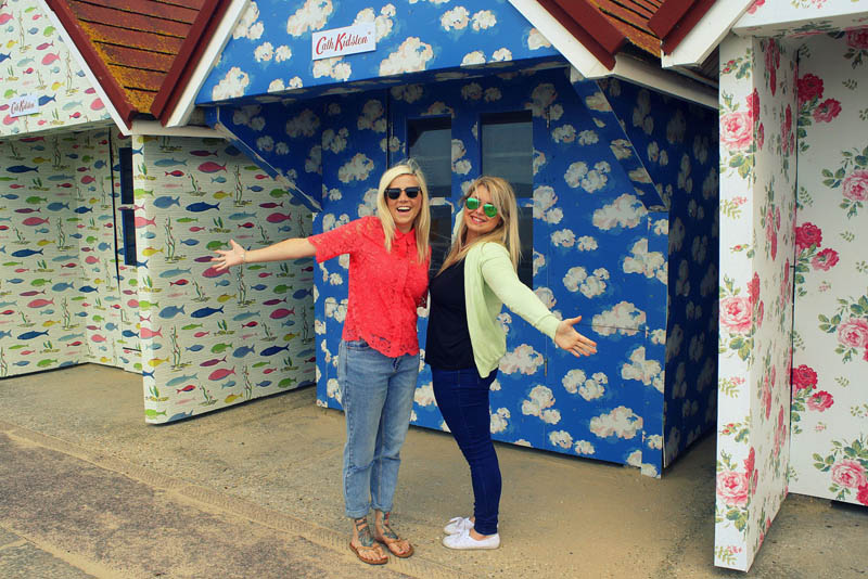 Cath Kidston beach huts at Bournemouth beach