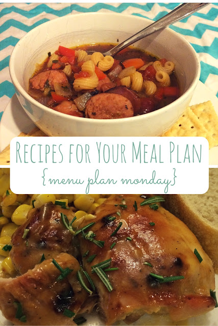 This week, find quick and easy dinner recipes for your meal plan: Hearty Sausage Stew {Taste of Home} and Man-Pleasing Chicken {Witty in the City}!