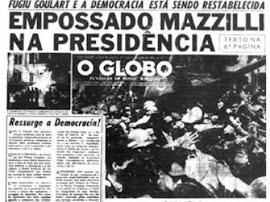 O Globo celebrou o Golpe Militar