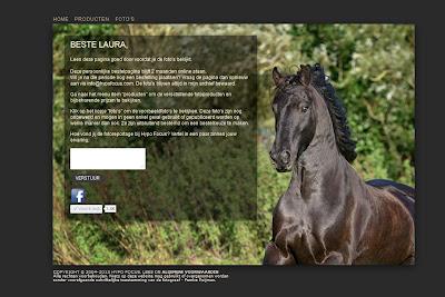 De homepagina van de nieuwe bestel site