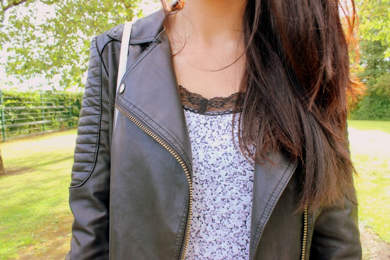Summer Dress Leather Jacket