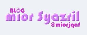 Blog Mior Syazril @ MIORjQAF
