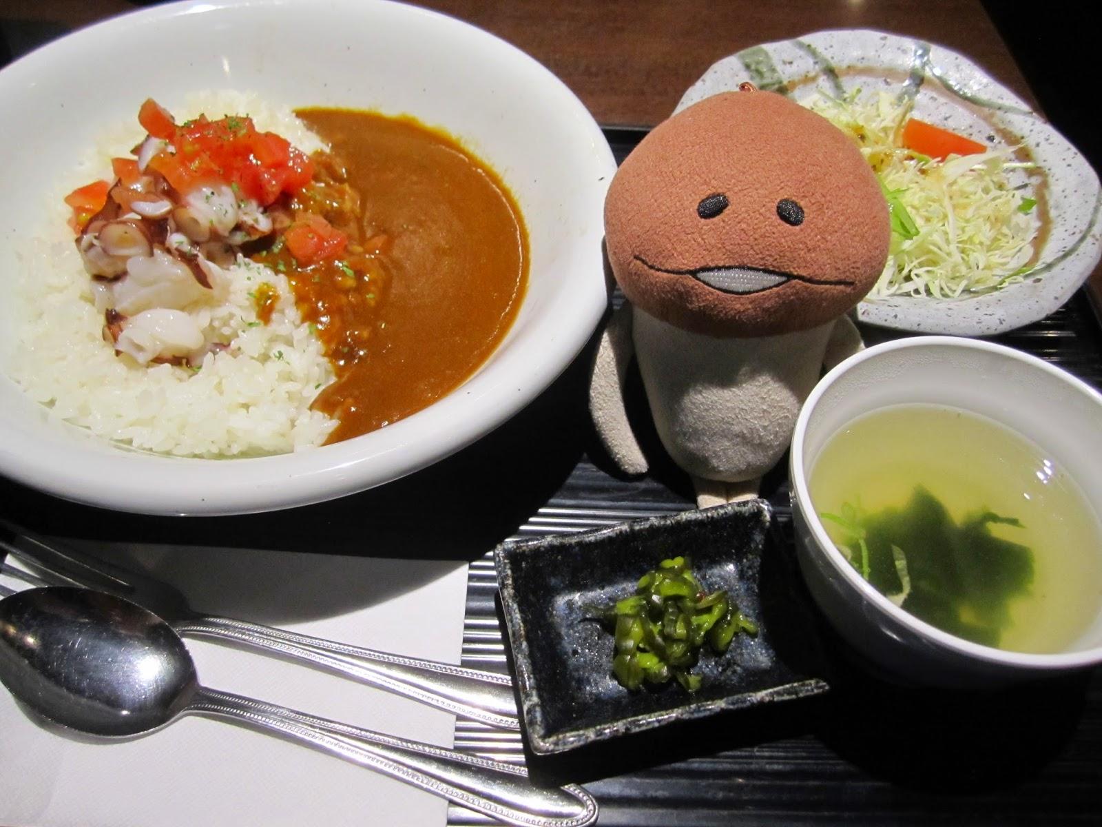 Tako Octopus Curry Maruumiya Paseo Sapporo Station