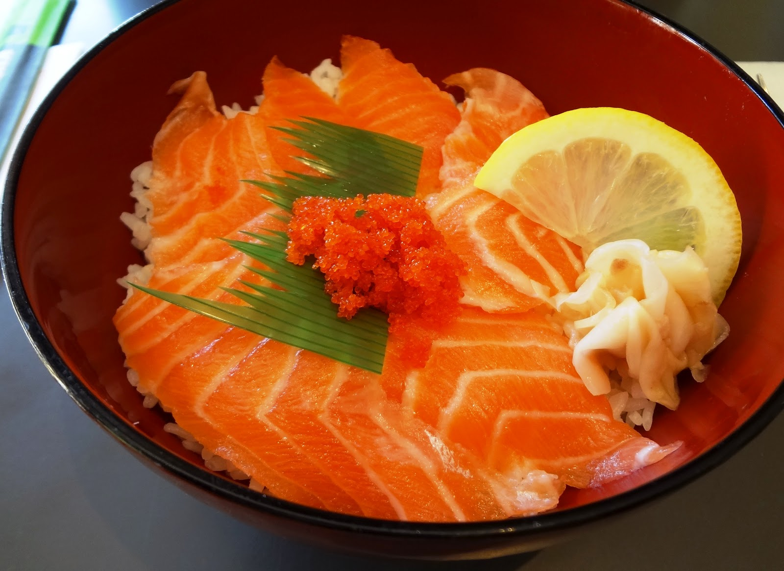 Sashimi With Rice Salmon sashimi and sushi rice cooking is a pain