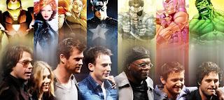 Homem de Ferro; Viúva Negra; Thor - Deus do Trovão; Capitão América; Nick Fury; Gavião e Hulk