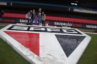 Brasão do São Paulo Futebol Clube no estádio do Morumbi