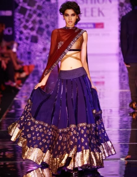 Green Floral Ghagra Choli Online - Gujarati Dresses