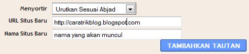 Gambar tutorial membuat widget daftar link blog
